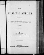 On the Russian apples imported by U.S. Department of Agriculture in 1870 by Charles Gibb