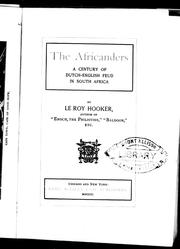 The Africanders by Hooker, Le Roy