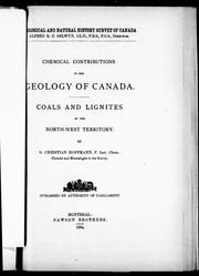 Chemical contributions to the geology of Canada by G. Christian Hoffmann