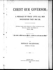 Christ our governor, or, A message of peace unto all men whosoever they may be PDF