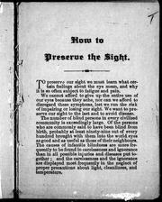[ How to preserve the sight]