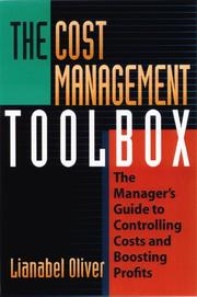 The Cost Management Toolbox PDF