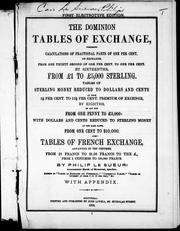 The Dominion tables of exchange by Philip Le Sueur