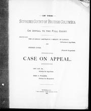 In the Supreme Court of British Columbia, on appeal to the full court by Stephen Jones