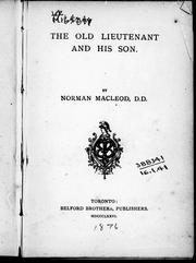 The old lieutenant and his son by Macleod, Norman