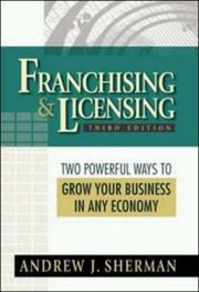 Franchising & licensing by Andrew J. Sherman