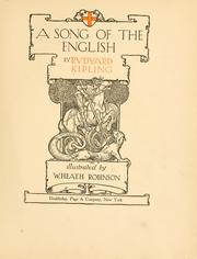 Cover of: A  song of the English by Rudyard Kipling