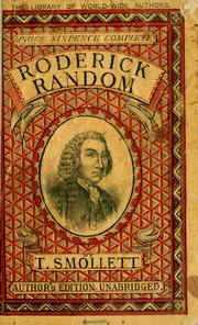 The adventures of Roderick Random by T. Smollett