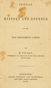 Critical history and defence of the Old Testament canon by Moses Stuart