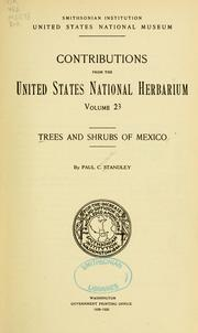 Trees and shrubs of Mexico by Paul Carpenter Standley