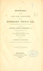 A discourse on the life and character of the Honorable Thomas Lee PDF