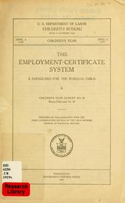 The employment-certificate system PDF