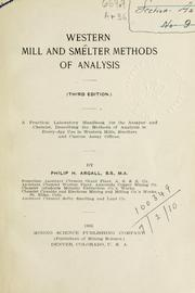 Western mill and smelter methods of analysis PDF
