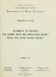 Feasibility of serving the Empire West Side Irrigation District from the State water project PDF