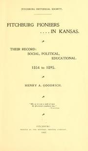 Fitchburg pioneers in Kansas.