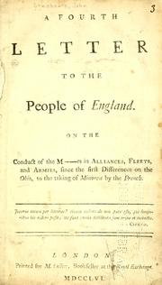 A fourth letter to the people of England by John Shebbeare