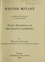 Winter botany by Trelease, William