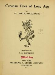 Croatian tales of long ago PDF