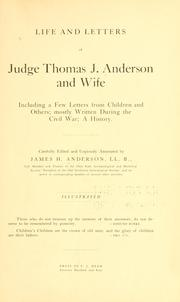 Life and letters of Judge Thomas J. Anderson and wife PDF