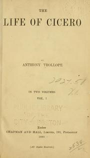 Cover of: The life of Cicero by Anthony Trollope