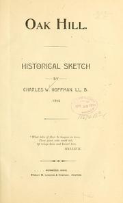 Oak Hill [O.] Historical sketch .. PDF