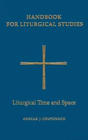 Handbook for Liturgical Studies by Anscar J. Chupungco