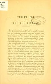 The people versus the politicians PDF