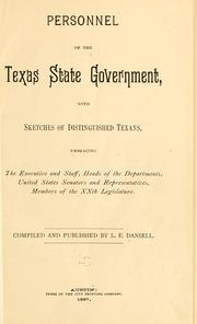 Personnel of the Texas state government by Lewis E. Daniell