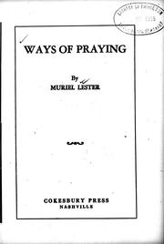 Ways of praying by Muriel Lester