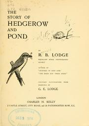 The story of hedgerow and pond PDF