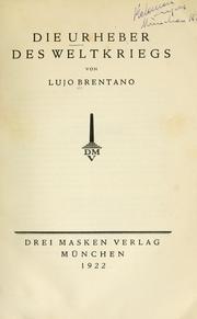 Die Urheber des Weltkriegs PDF