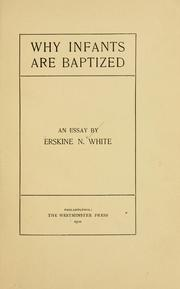 Why infants are baptized PDF