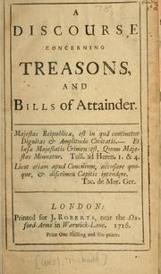 Discourse concerning treasons and bills of attainder PDF