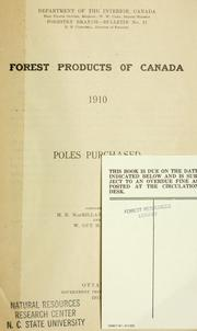 Forest products of Canada, 1910 by H. R. MacMillan