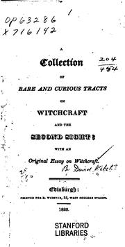 A collection of rare and curious tracts on witchcraft and the second sight PDF