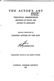 The actor&#39;s art by Hammerton, John Alexander Sir