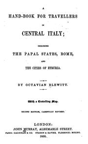 Cover of: A hand-book for travellers in central Italy by Murray, John