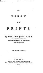 An essay on prints by Gilpin, William