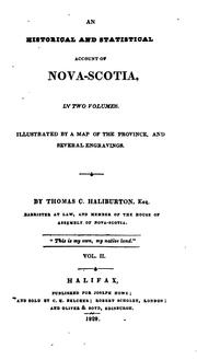 An historical and statistical account of Nova-Scotia by Thomas Chandler Haliburton