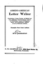 Armeno-American letter writer PDF