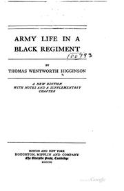 Army life in a black regiment PDF