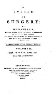 A system of surgery by Bell, Benjamin