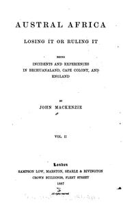 Austral Africa; losing it or ruling it by Mackenzie, John