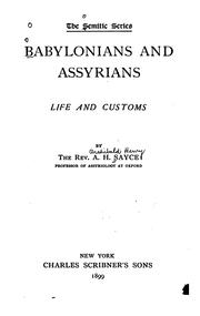 Babylonians and Assyrians by Archibald Henry Sayce