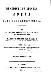 Opera by Baruch Spinoza