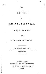 Cover of: The  Birds of Aristophanes by Aristophanes