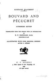 Bouvard et Pcuchet by Gustave Flaubert