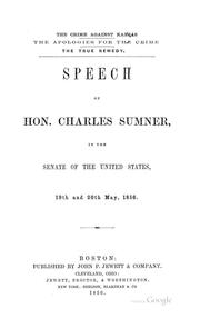 The crime against Kansas by Sumner, Charles