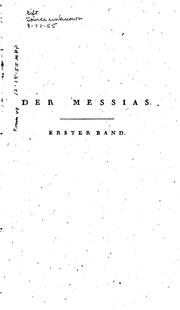 Messias by Friedrich Gottlieb Klopstock