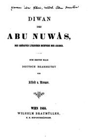 Poems by Abū Nuwās